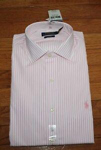 NWT Polo Ralph Lauren Mens Classic Fit Spread Collar Dress Shirt PINK PONY *F3