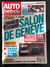 AUTO HEBDO N°564 MARS 1987 AGS FORD TERRE BRUYERES PORSCHE GOLF SYNCRO GENEVE