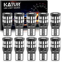 10 Veilleuses 30-SMD 3014 LED W5W T10 Canbus ANTI ERREUR ODB Rouge Pur XENON