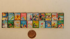 Large Job Lot of 6 Titles 1/12th Walt Disney books for Dolls Houses