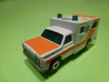 MATCHBOX AMERICAN VAN - AMBULANCE - PARAMEDICS DIAL 911 1:60? - GOOD CONDITION
