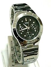 Casio Women Analog Quartz Day Date Watch Ltp-2083d-1av Stainless Steel Silver