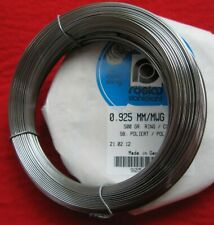 More details for piano wire/spring steel-'roslau'-full 1/2kg coils (500grams)high polished wire