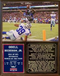 Odell Beckham Jr #13 Greatest Catch Ever 2014 Rookie of the Year Photo Plaque