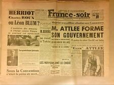 JOURNAL QUOTIDIEN / FRANCE SOIR N° 340 / 28/07/1945 / PROCES PETAIN