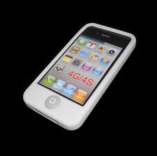 NEW WHITE SILICONE RUBBER GEL APPLE IPHONE 4 4S CASE BUY ONE GET ONE FREE