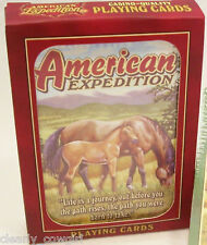 #8323 -- AMERICAN EXPEDITION HORSES PLAYING CARDS -WOW!