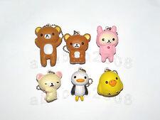 Koro San-X Rilakkuma Bear keychain squishy figure gashapon (full set 6 pcs)