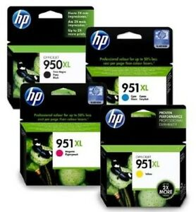 Genuine HP 950XL 951XL Multipack 4 Ink Cartridges for OfficeJet 8100 8600 Plus
