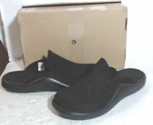 NEW HS 78786 Womens Walk On Air Indoor/Outdoor Slippers, Black sz 9 $135