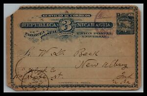 GP GOLDPATH: NICARAGUA POSTAL CARD 1896 _CV751_P05