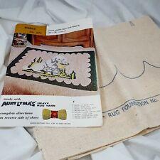 Vintage rug foundation Aunt Lydias Poodle 24 x 36 USA punch needle #674