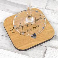 Personalised Wedding Table Coasters Rustic Wooden Favours Placecards Favors Idea