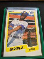1990 Fleer Ken Griffey JR Seattle Mariners #513 2nd Yr RC CIncy Area Code 513