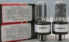 6SN7GT RCA made in Italy 1Match Pair Tested Amplitrex AT1000 #956001&13