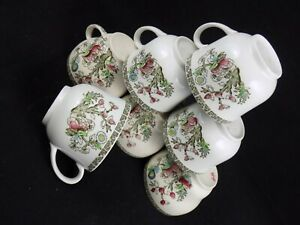 Blanche: Job Lot of 7 Vintage China Shabby Chic Johnson Brothers Duos