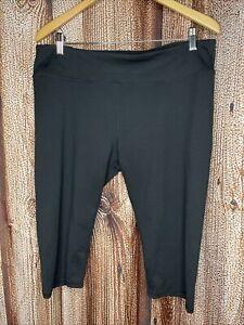 Fabletics Black Mid-Rise Powerhold Capri Leggings Women's XXL