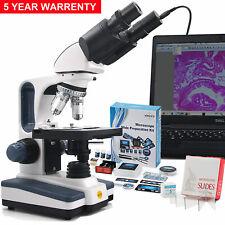 SWIFT Microscopio Compuesto Binocular de Laboratorio Veterinario Profesional + Cámara + experimento kits