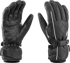 NEW $120 Leki Womens Arosa Goretex Waterproof Ski Gloves Winter Ladies Black