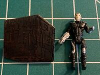 Star Trek: The Next Generation Borg Cube Ship Cloissone Metal Pin plus Locutus