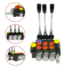 New Listing50lmin 3 Spool Hydraulic Directional Control Valve 13gpm 3600psi Small Tractors