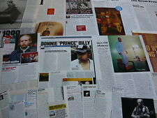 BONNIE PRINCE BILLY/PALACE - MAGAZINE CUTTINGS COLLECTION (REF ZF)