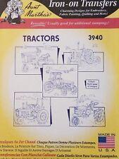 Aunt Martha's Hot Iron Transfer 3940 Tractors NEW