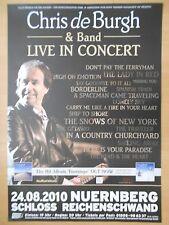 CHRIS DE BURGH  2010  NÜRNBERG - orig. Concert Poster - Konzert Plakat  A1  NEU