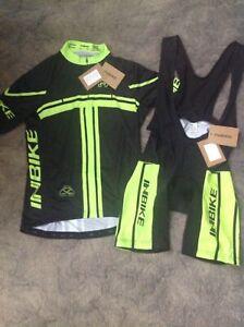 INBIKE Mens Cycling Jersey/Padded Bib Tights Set size L.