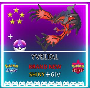 Pokemon Sword & Shield YVELTAL! 6IV SHINY! BRAND NEW! CROWN TUNDRA DLC