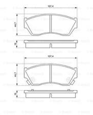 Bremsbelagsatz, Scheibenbremse für Bremsanlage Vorderachse BOSCH 0 986 493 340