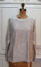 Talbots~NWT~light gray/silver open stitch sweater~1X R$99