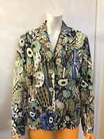 Chico's 2 Multicolor Casual Buttons Blazer Jacket Size  LARGE