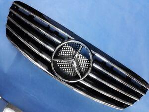 Black Front Grille Set For 1998-2001 Mercedes Benz (Pre-Facelift) W220 S-Class
