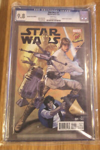 Star Wars  Number 001 Variant Edition 9.8Cgc  Graded Marvel Comic