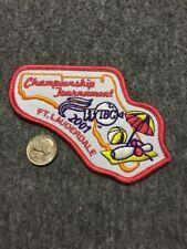Vintage Wibc Ft. Lauderdale 2001 Championship Tournament Bowling Patch Mint