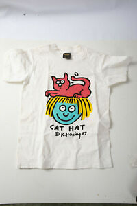 Keith Haring 1987 Cat Hat T Shirt From His Gallery (P4R) Anvil Youth Small