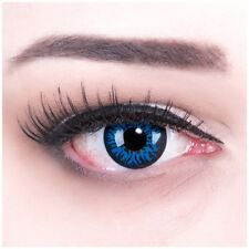 """Coloured Contact Lenses """"Blue Demon"""" Contacts Color Fasching + Free Case"""