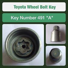 """Genuine Toyota Locking Wheel Bolt / Nut Key 491 """"A"""""""