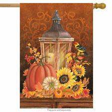 New listing #93 Fall Lantern Sunflowers Bird Autumn Pumpkins House Flag 28X40 Banner