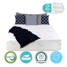 """14"""" inch COOL & GEL Memory Foam King Size Mattress FIRM FREE 2 Pillows & Cover"""