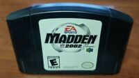 Madden NFL 2002 Football - *Authentic* Nintendo 64 N64 Game Working / Tested
