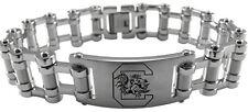 SOUTH CAROLINA GAMECOCKS USC * Stainless Steel Bike Chain Bracelet w/Logo * NCAA
