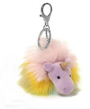 GUND Plush Rainbow Unicorn Poof Backpack Clip/keychain [purple]