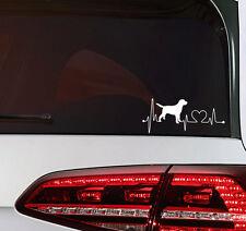 Labrador Hunde Aufkleber Herzschlag Auto Sticker Heart Beat Dog tattoo JDM OEM