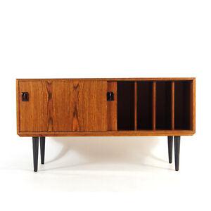 Retro Vintage Danish Rosewood Long Low Sideboard Record Vinyl Hi Fi Cabinet 60s