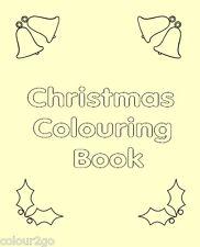 A5 Xmas Colouring Book Child Present Gift Stocking Filler SecretSanta Topsa Card
