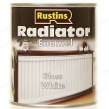 RUSTINS 250ML RADIATOR PAINT ENAMEL GLOSS WHITE SOLVENT BASED  NON-YELLOWING