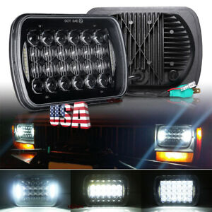 """Newest 5x7"""" 7x6"""" Led Projector 5D Headlight Halo for Chevrolet Blazer Astro S10"""