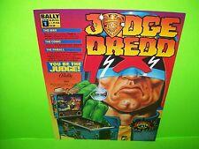 Bally JUDGE DREDD Original 1993 Flipper Game Pinball Machine Promo Sales Flyer